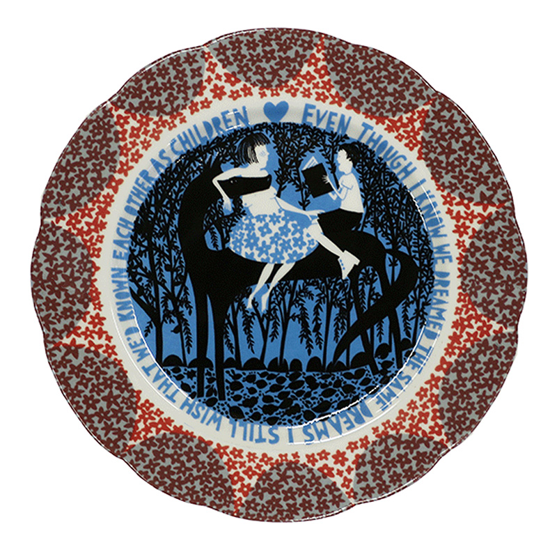 horse-plate-red