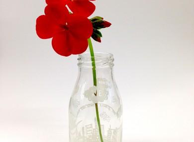 flower milk bottle