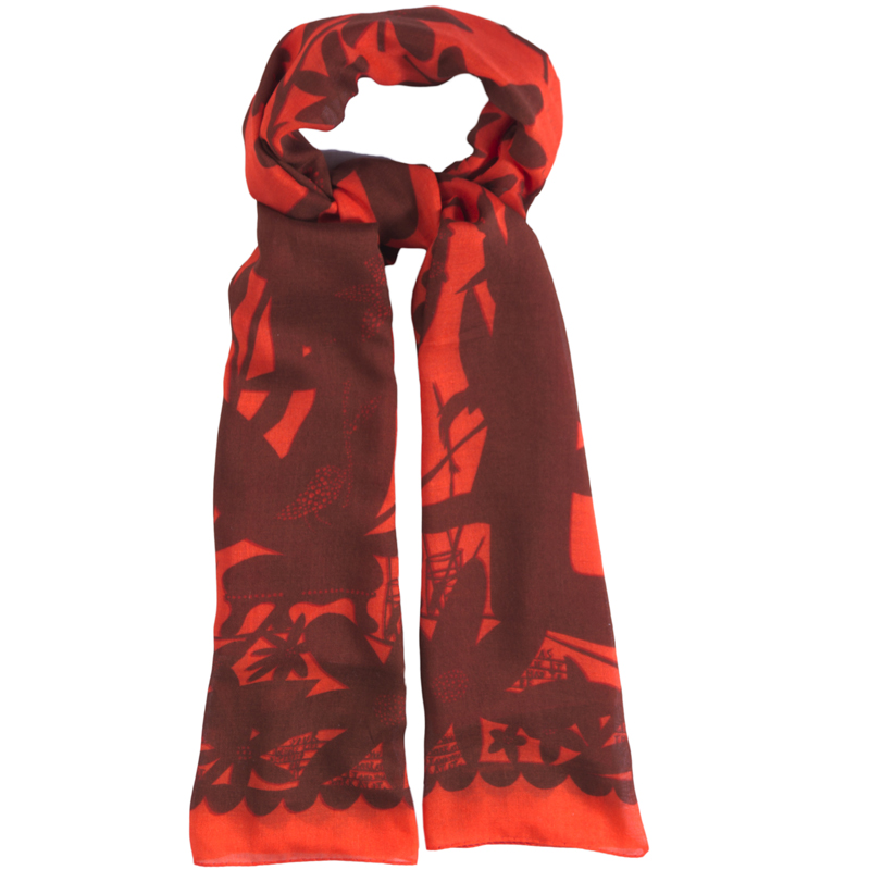 You work at it Red Scarf 947022 H web