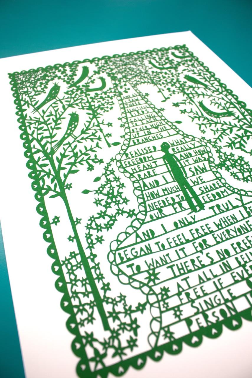 lasercut for book close up
